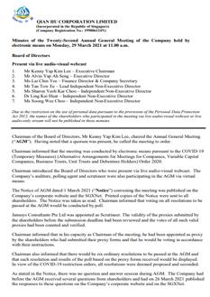 Twenty-Second Annual General Meeting